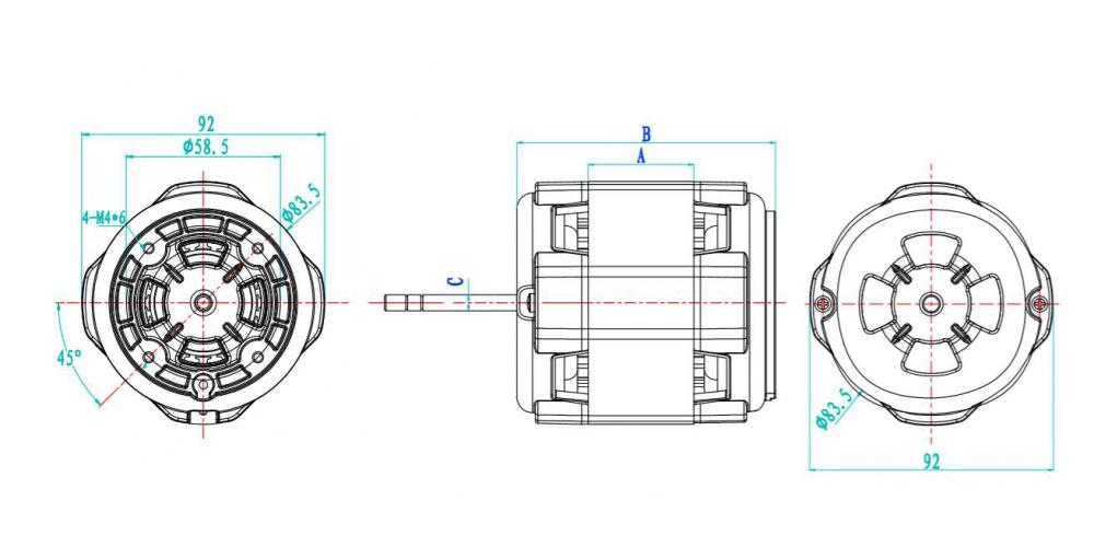 Application of single phase capacitor start induction motor